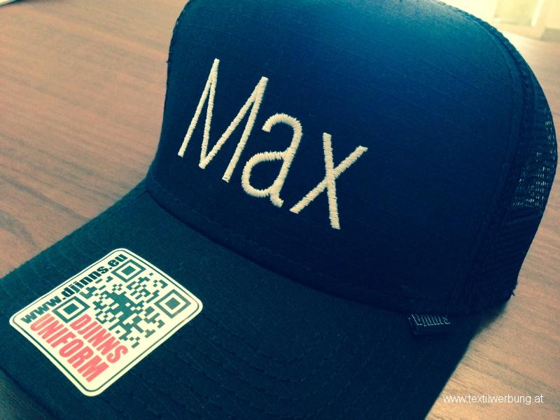 max-kappe-stickerei